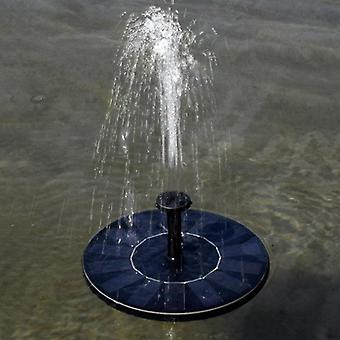 Mini Solar Fountain Garden Pool Pond Floating Water Outdoor Decor (a)