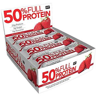 QNT 50% Full Protein Bar Maintaining Muscle Mass (Exotic Strawberry) 12 X 50g