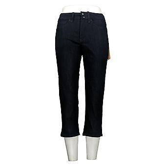 NYDJ Women's Petite Jeans Cool Embrace Skinny Crop Side Slits Blue A377693