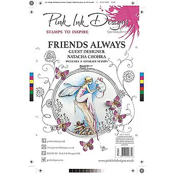 Pink Ink Designs Friends Always A5 Clear Stamp
