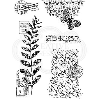 Woodware Clear Singles Postal Mix 4 in x 6 in Stamp