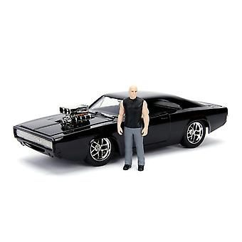 F&F Dom's Dodge Charger with Dom 1:24 Diecast Model Kit