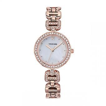 TMRG10112-03 - horloge armband staal Dor Rose Strass vrouw