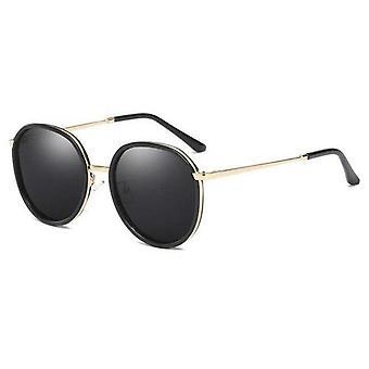 Retro Runde polarisierte Sonnenbrille Uv 400 verspiegelte Brillen