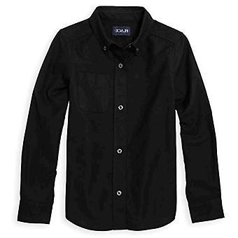 The Children's Place Boys' Big Uniform Oxford Shirt, Black, L (10/12)