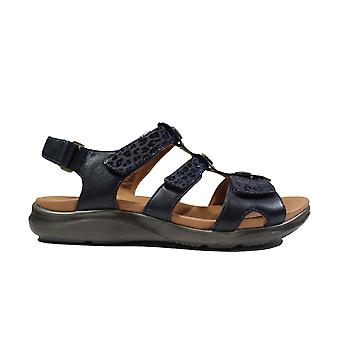 Clarks Kylyn Step Navy Combi Leather Womens Sandals