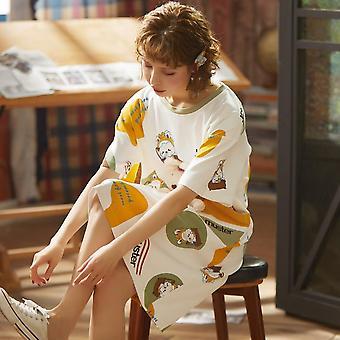 Nightgown Sarjakuva Print Sleepshirts (Setti 2)