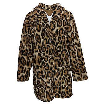 Susan Graver Women's Jacket Reversible Sherpa & Polar Fleece Beige A383194