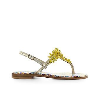 Giallo Positano Yellow Majolica Flat Sandal