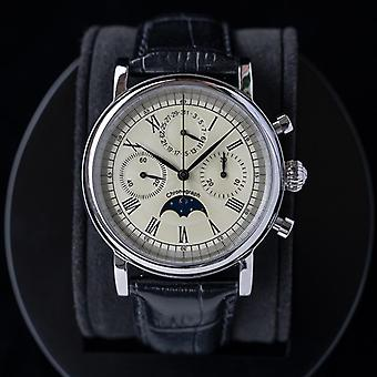 Watch For Man Chronograph Mechanical Sugess Sapphire Automatic Moon Phase Date