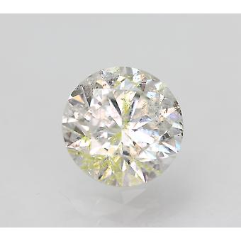 Certified 0.91 Carat G Color SI2 Round Brilliant Natural Loose Diamond 6.19mm