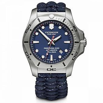 Victorinox I.N.O.X. Relógio Masculino em Paracord Azul - 45 mm