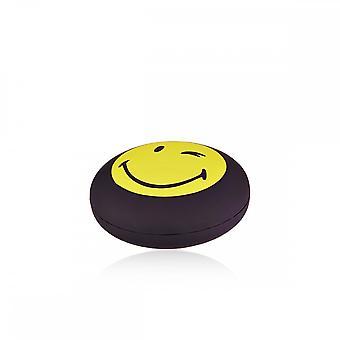 Pulsera de cordón vermeil amarillo sonriente y cordón naranja 'apos;Cool'apos;