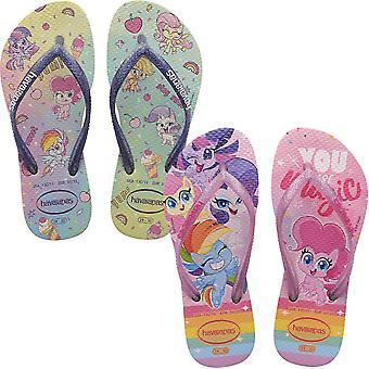 Havaianas Girls Kids Slim My Little Pony Summer Beach Sandals Flip Flops