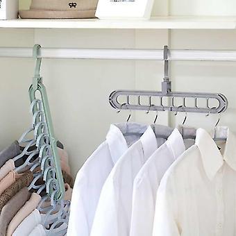 Baby Care Nine Hole Rotating, Multifunctional Folding Hanger, Wardrobe Drying