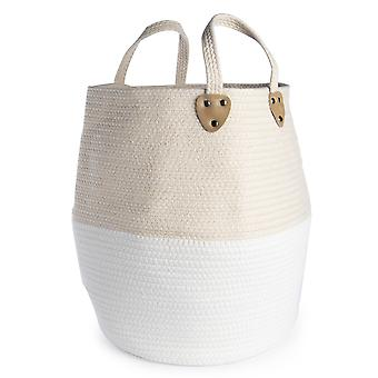 Large Cotton Rope Storage Basket | M&W Cream without Tassels