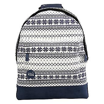 Mi-Pac-Backpack, pattern: Fair Isle, color: navy/white, one size