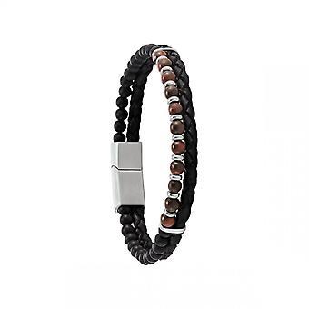 Bracelet Homme Jourdan RC034H - HEKLA  - Perle marron