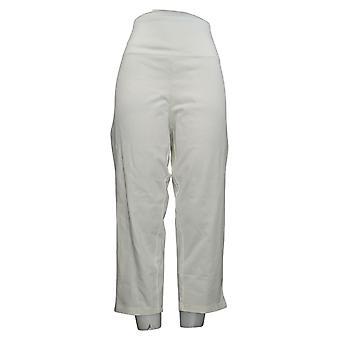 Kvinder med kontrol regelmæssig mave Kontrol Crop Jeans Hvid X-Large