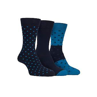 3 Pk mens cushioned sole cotton rich dress socks