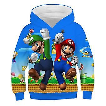 3d Cartoon Print Soft Hoodie Sweatshirt For Set-21