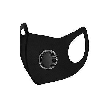 Black  washable dustproof sunscreen ice silk breathing valve mask homi2109