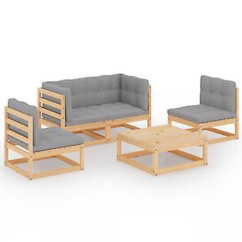 vidaXL 5 szt. Garden Lounge Set z poduszką Pine Solid Wood