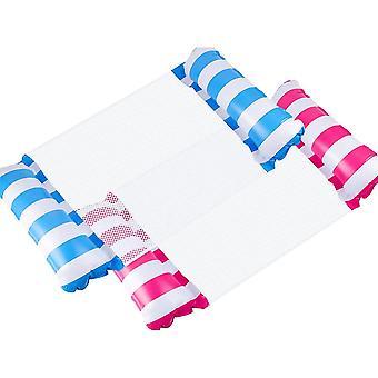 2 Pack Aufblasbare Hängematte Wasser Luftmatratze mit Netz Erwachsene 4 in 1 Mehrzweck Luftmatratze