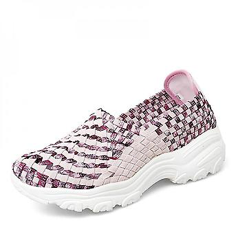Checked Knitted Unisex Shoes