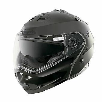 Caberg Duke II Smart Full Face Motorcykel Hjälm Hi-Vis Reflekterande Svart