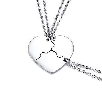 3-stycke kvinnor män personlig rostfritt stål vänskap pussel hänge halsband