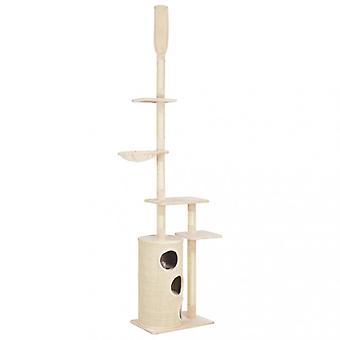 Chunhelife Cat Tree With Sisal Scratching Posts Beige 260 Cm