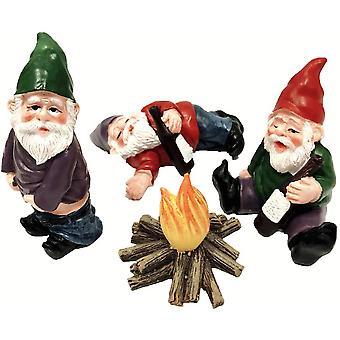 4st Fairy Garden Tillbehör Miniatyr Trädgårdsarbete Gnomes Dvärg