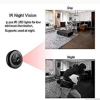 Mini camera - Black Diamond draadloze WiFi HD Night Vision smart remote surveillance camera (zwart)
