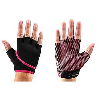 ToeSox Grip Gloves Half Finger Design Yoga Pilates & Multiple Workouts - Fuchsia