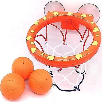 Basketball Hoop Bath Toy On Suckers Set Outdoor Game Development Interesting