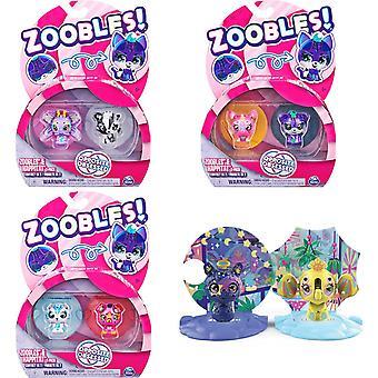 Zoobles modsatte besat 2-Pack tal og Happitat
