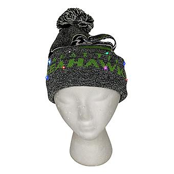 NFL Seattle Seahawks LED Lighted Stripe Beanie Gray Knit Chapeau d'hiver A371654