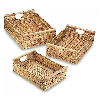 Accent Plus Hyacinth Straw Nesting Basket Set, Pack of 1