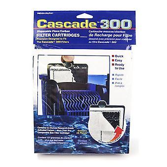 Cascade 300 Disposable Floss & Carbon Power Filter Cartridges - 3 Pack