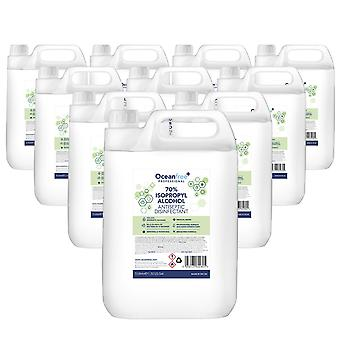 IPA Disinfectant Rubbing Isopropyl Alcohol Hand Sanitiser - 5L Litre x10 - Certified Surgical / Medical Grade - Made in the UK
