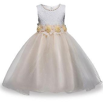 Nyári lányok fél virág labda ruhák ruha, stílus 4 csecsemő