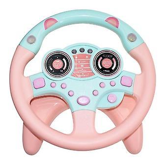 Eletrinen simulaatio ohjauspyörä lelu kevyt ääni lasten leluja| Lelupuhelimet