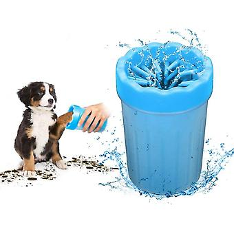 Pet Cats And Dogs Go Out Cleaning And Beauty Foot Washing Cup (blue Trumpet)