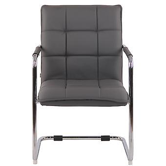 Chaise de bureau - Chaise de bureau - Bureau à domicile - Moderne - Gris - Métal - 57 cm x 64 cm x 89 cm