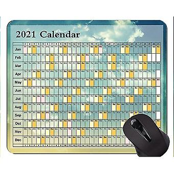Keyboard mouse wrist rests 220x180x3 calendar for 2021 years non-slip rubber gaming mouse pad clear sky gaming mouse mat