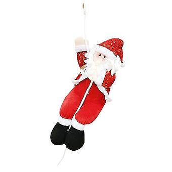 Christmas tree skirts homemiyn rope climbing santa claus cloth cute pendant 60cm red white