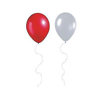 """Balloons 50 red and white 12"""" metallic latex helium balloons for england world cup 2018"""