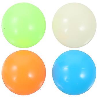 4 ks 45mm Lepkavá guľa Fluorescenčná dekompresia Stresová guľa na strop