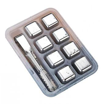 Stainless Steel Chilling Cubes Reusable Ice Cube Whiskey Stones For Drinks